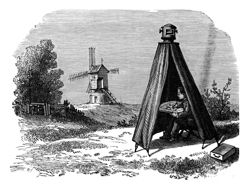 Camera Obscura - Obscura designers, vintage engraving
