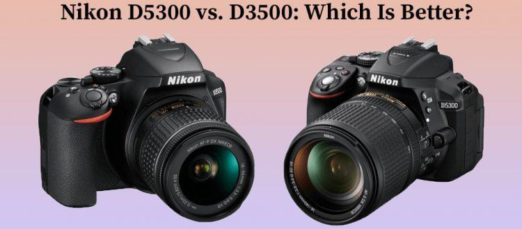 Nikon D5300 vs. D3500